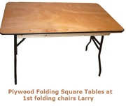 Plywood Folding Square Tables at 1st Folding Chairs Larry