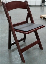 Resin Mahogany Folding Chair at wholesale-foldingchairstables-discount