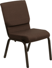 Brown Fabric Chapel Chair at Folding Chairs Tables Discount