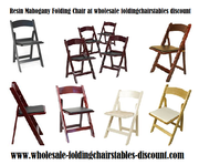 Resin Mahogany Folding Chair at wholesale foldingchairstables discount