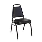 Black Vinyl 2 Inch Banquet Chair