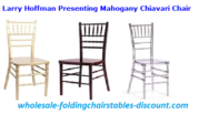 Larry Hoffman Presenting Mahogany Chiavari Chair