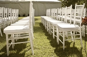Larry Hoffman Presenting White Chiavari Chair