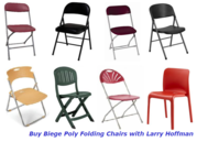 Buy Biege Poly Folding Chairs with Larry Hoffman