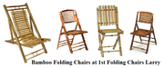 Bamboo Folding Chairs at 1st Folding Chairs Larry