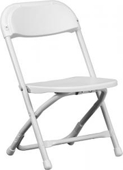 White Kids Folding Chair by Larry Hoffman Chair