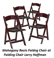 Mahogany Resin Foldng Chair at Folding Chair Larry Hoffman