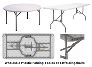 Wholesale Plastic Folding Tables at 1stfoldingchairs