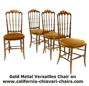 Gold Metal Versailles Chair on www.california-chiavari-chairs.com