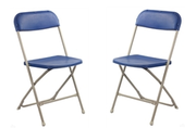 Blue Poly Folding Chair with Wholesale Chairs and Tables Discount