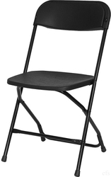 Black Poly Folding Chair at Folding Chairs Tables Discount