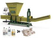 Plastic waste recycling with GREENMAX Poseidon series machine