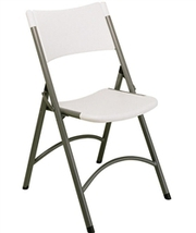 Molded White Folding Chair