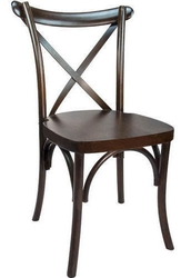 FRUITWOOD X BACK BANQUET CHAIR