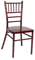 Mahogany Aluminum Chiavari Chair at Larry Hoffman Chair